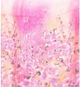 桜 ピンク 春 スカーフ ポリエステル プリント 大判 ショール ストール プリント