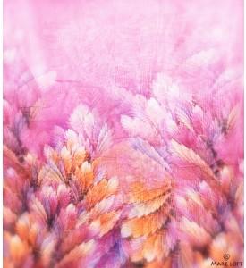 鮮やか 羽毛 紫 スカーフ ポリエステル プリント 大判 ショール ストール プリント