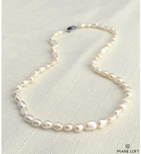 バロック 淡水パール ネックレス 40cm ホワイト 5mm~6mm